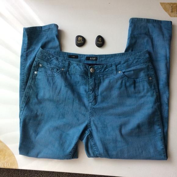 a.n.a Denim - A.N.A. Blue Skinny Jeans Size 18W